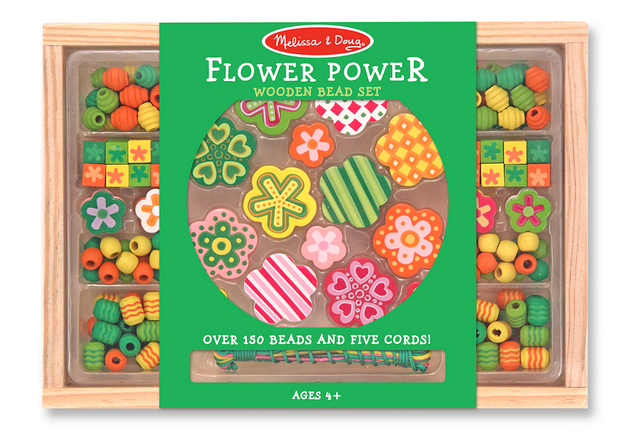 Melissa & Doug: Flower Power Wooden Bead Set