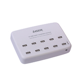 10 Port USB Charging Station (White)