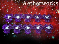 Aetherworks Energy Tokens - Transparent Purple (10 Pack)