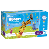 Huggies Ultra Dry Nappies: Jumbo Pack - Toddler Boy 10-15kg (72) image