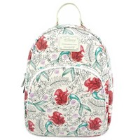 Loungefly: Little Mermaid - Ariel Sketch Print Mini Backpack