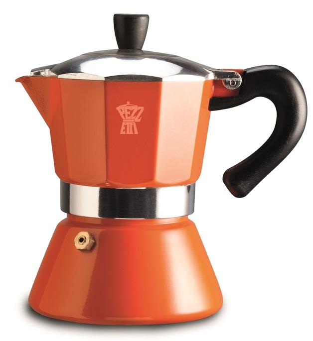 Pezzetti Bellexpress Orange Induction Coffee Maker
