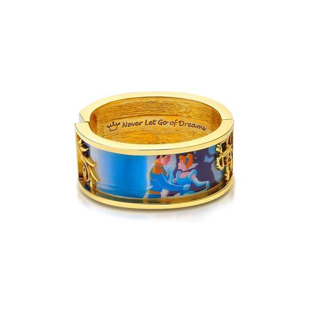 Couture Kingdom: Disney - Princess Cinderella Dancing Bangle (Yellow Gold)