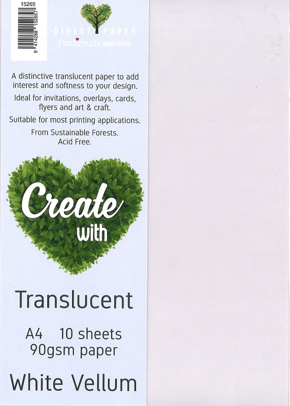 Translucent Vellum Paper White (10 Pack)