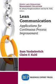 Lean Communication by Sam Yankelevitch
