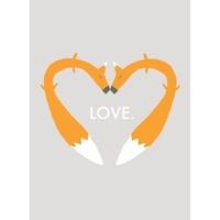 Carolyn Suzuki - Foxy Greeting Card