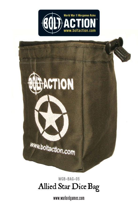 Bolt Action Allied Star Dice Bag & Dice image