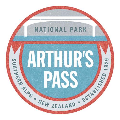 100 Percent NZ - National Parks Ceramic Coaster - Arthur's Pass