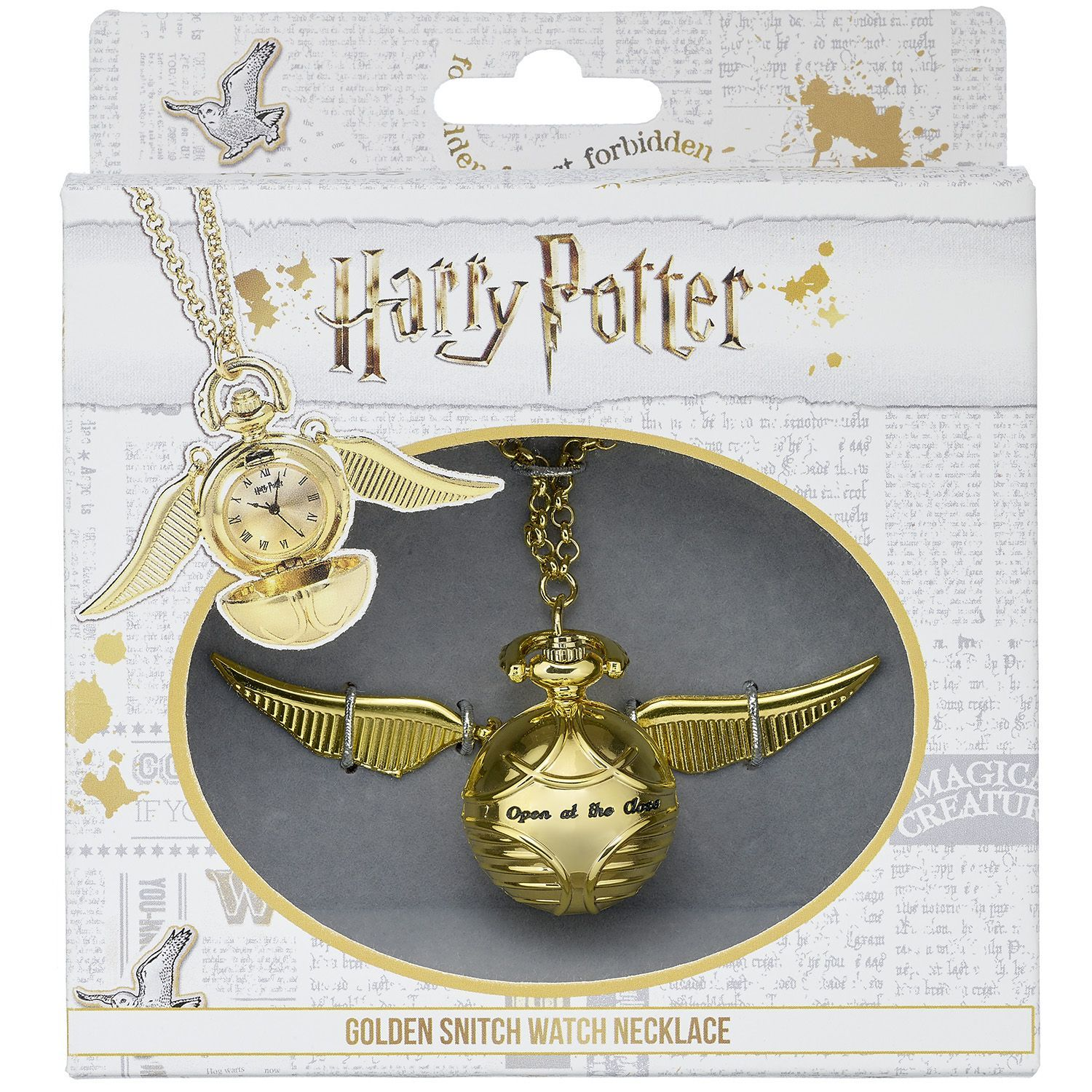 The Carat Shop: Harry Potter Golden Snitch Watch Necklace image
