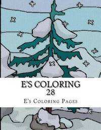 E's Coloring 28 by E's Coloring Pages image