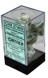 Chessex Signature Polyhedral Dice Set Green/Dark Green Marble