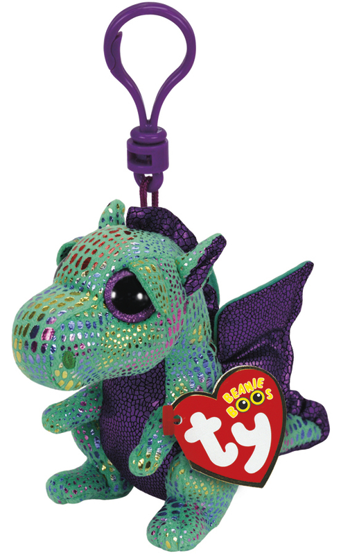 Ty Beanie Boos: Cinder Dragon - Clip On Plush