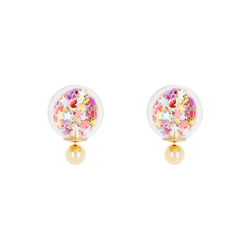 Short Story: Bubble Earring Star - Multi-Coloured image