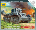 Zvezda 1/100 German Pz.Kpfw. 38 (t) Light Tank