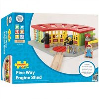 Bigjigs Rail Accessories - Five Way Engine Shed