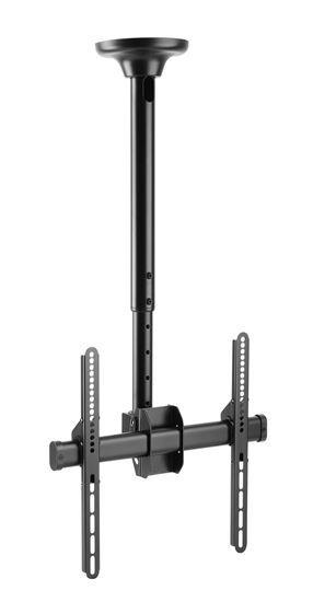 BRATECK: 32'-55' Telescopic full-motion ceiling mount. Max load:50Kgs. VESA support up to 400x400. Profile: 560-910mm. Tilt & swivel.