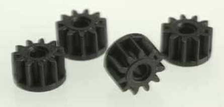 Scalextric Sidewinder Pinion Black 11 Tooth (4pc) for 1/32 Slot Cars