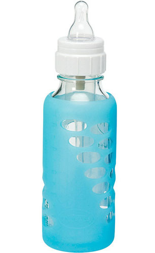 Dr Brown's Protective Sleeve for 240ml Glass Bottle - Single (Blue) image