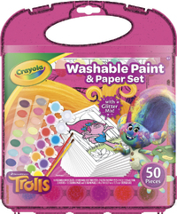 Crayola: Trolls - Washable Paint & Paper Set