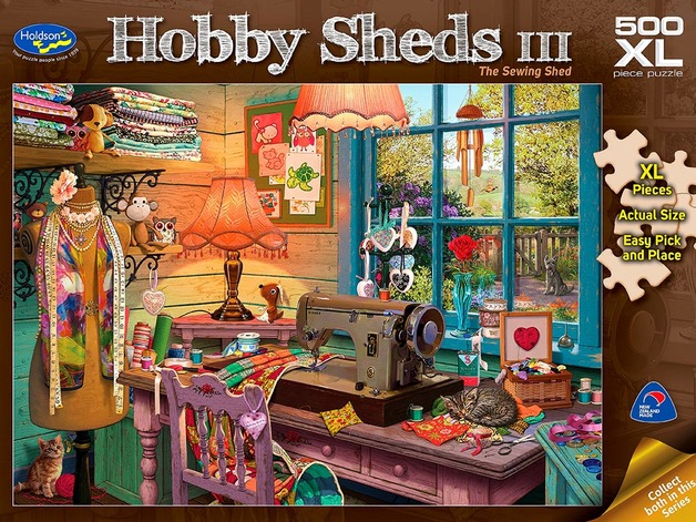 Holdson XL: 500 Piece Puzzle - Hobby Sheds S3 (The Sewing Shed)