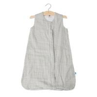 Little Unicorn - Cotton Muslin Sleeping Bag - Grey Stripe (Medium 6-12mth)