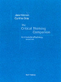 Critical Thinking Companion: For Introductory Psychology by Jane S. Halonen image