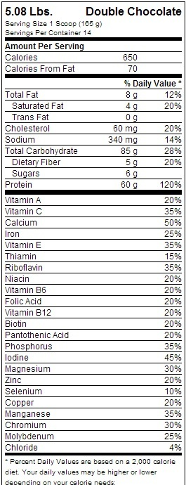 Optimum Nutrition Pro Complex 60 Gainer - Double Chocolate (2.3kg) image