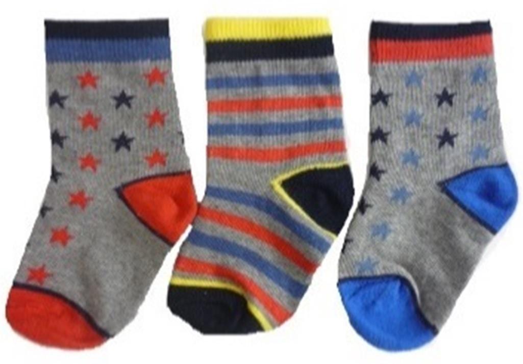 Hi-Hop Stars Boys Socks (0-6 months) - 3 Pack image