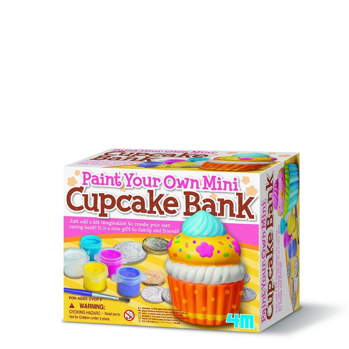 4M Craft: Paint Your Own Mini Cupcake Bank image