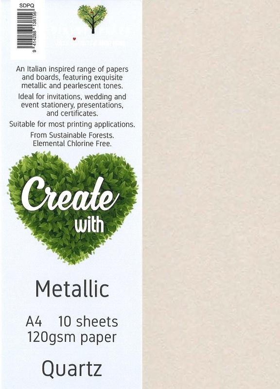 Metallic Paper A4 120gsm - Quartz (10 Pack)