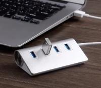4-Port USB 3.0 Hub - Silver