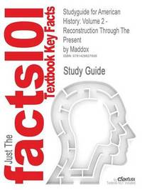 Studyguide for American History by Cram101 Textbook Reviews image