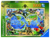 Ravensburger Word of Wildlife Puzzle (1000pc)