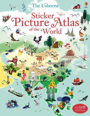 Sticker Picture Atlas of the World by Sam Lake