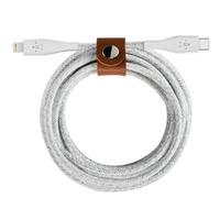 Belkin: DURATEK PLUS LIGHTNING TO USB-C, CABLE, STRAP, 4' WHT