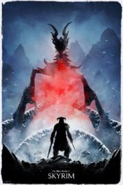 Elder Scrolls Skyrim: Premium Art Print - Alduin (Limited Edition)