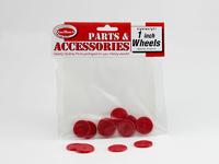 "Red Plastic Wheels 1"" (8pk)"