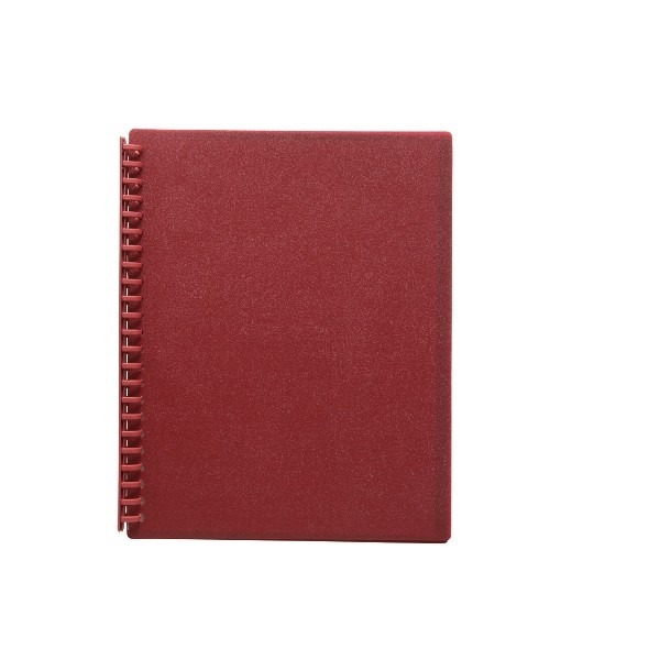 FM A4 20 Pocket Refillable Display Book - Burgundy