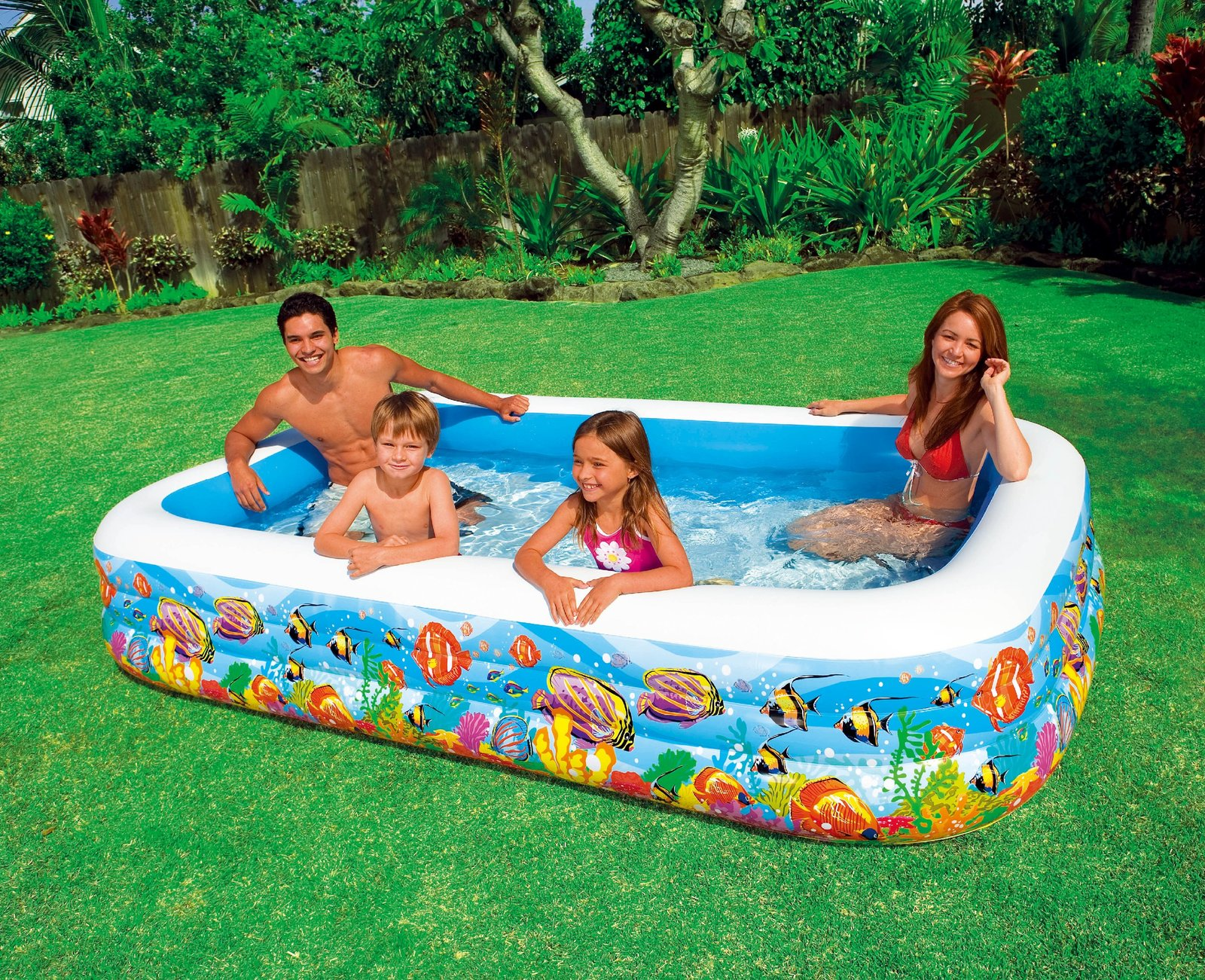 Intex swim center tropical reef family pool toy at mighty ape australia for Intex swimming pools australia