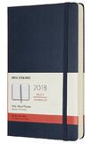 Moleskine Large Hard Cover 12 Month Daily Planner - Sapphire Blue