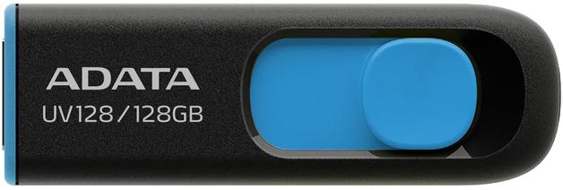 128GB ADATA UV128 Dashdrive Retractable USB 3.0 Flash Drive (Blue/Black)
