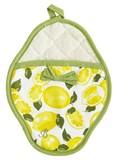 Summer Lemons Scalloped Pot Mitt w. Bow