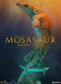 Dinosauria - Mosasaur Amber Statue image