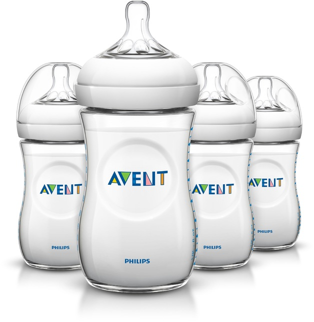 Avent: Natural Bottle - 260ml (4 Pack)