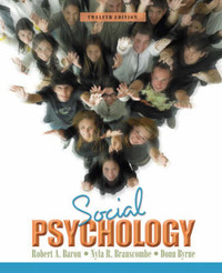 Social Psychology by Robert A Baron image