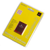Sony PS2 8MB Memory Card: Crimson Red for PS2