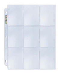 Ultra Pro 9-Pocket Platinum Page for Standard Size Cards (10-Pack)