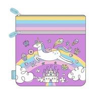 Large Pencil Case - Unicorn Rainbow