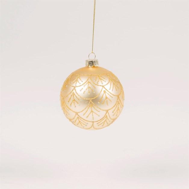 Gold & Silver Glitter Pattern Heirloom Bauble