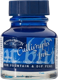 Winsor & Newton: Calligraphy Ink - Light Blue 350 (30ml)
